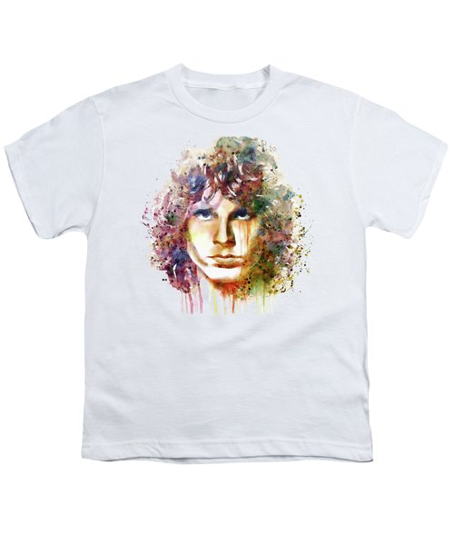 Jim Morrison Youth T-Shirt by Marian Voicu