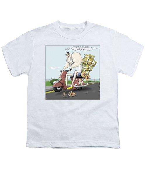 Jim's Shopping Trip Youth T-Shirt by Kris Burton-Shea