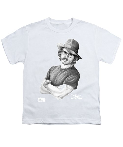 Johnny Depp Youth T-Shirt by Murphy Elliott