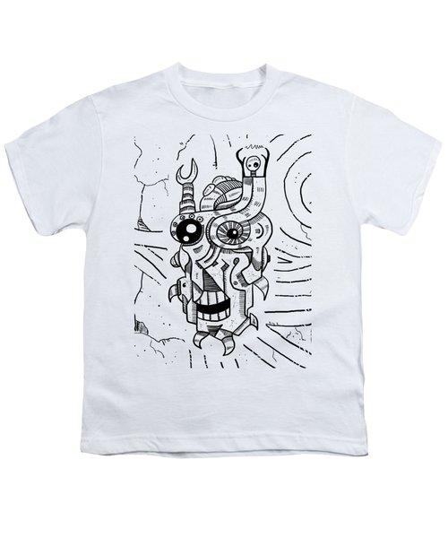 Killer Robot Youth T-Shirt by Erki Schotter