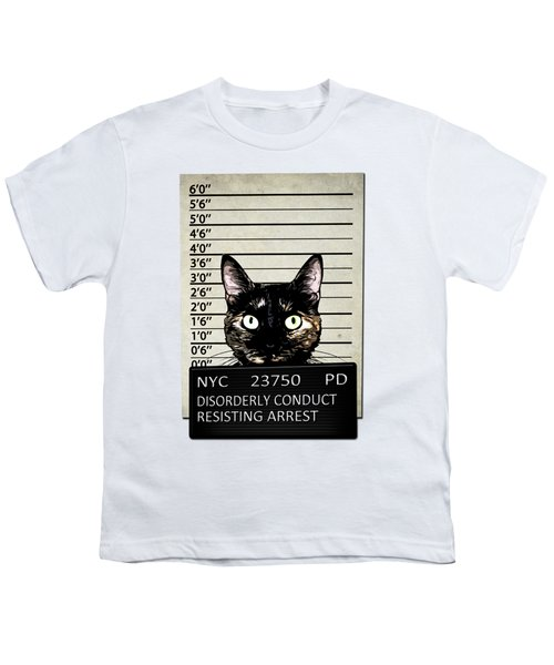 Kitty Mugshot Youth T-Shirt by Nicklas Gustafsson