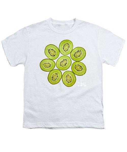 Kiwifruit Youth T-Shirt by Nailia Schwarz