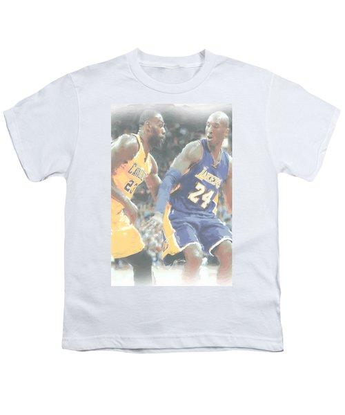 Kobe Bryant Lebron James 2 Youth T-Shirt by Joe Hamilton