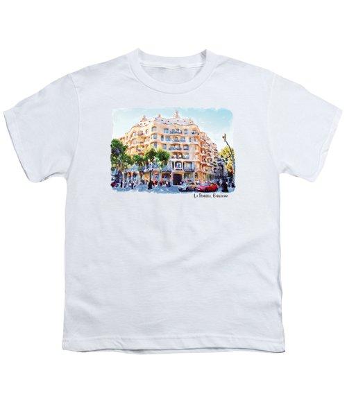 La Pedrera Barcelona Youth T-Shirt by Marian Voicu