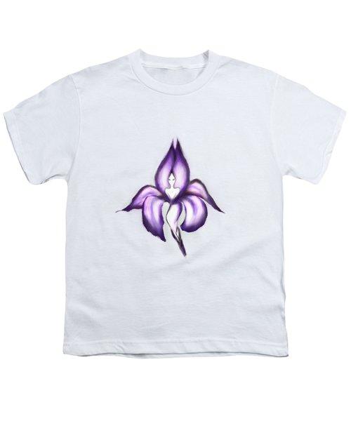 Lady Iris Youth T-Shirt by Awen Fine Art Prints