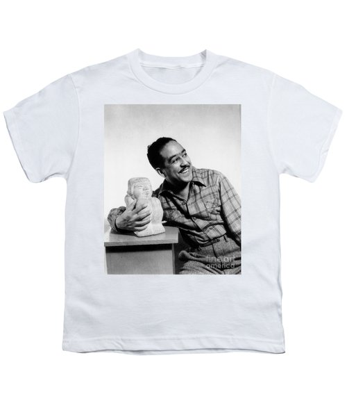Langston Hughes (1902-1967) Youth T-Shirt by Granger