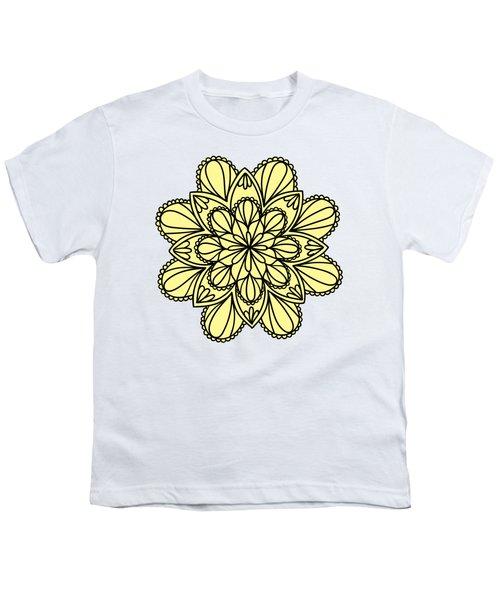 Lemon Lily Mandala Youth T-Shirt by Georgiana Romanovna