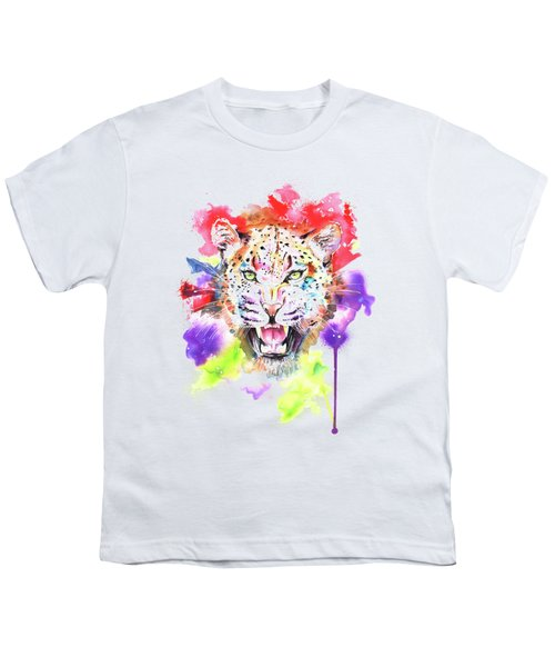 Leopard Youth T-Shirt by Isabel Salvador