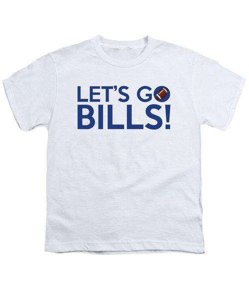 Let's Go Bills Youth T-Shirt by Florian Rodarte