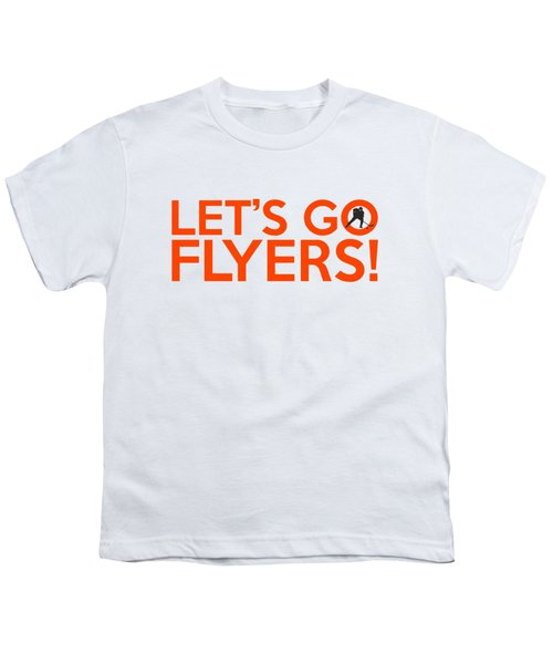 Let's Go Flyers Youth T-Shirt by Florian Rodarte