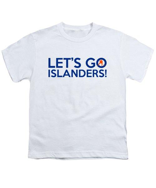 Let's Go Islanders Youth T-Shirt by Florian Rodarte
