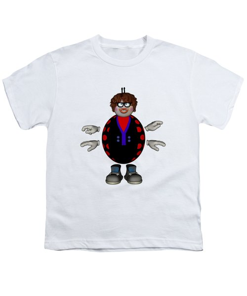 Lily The Ladybug Youth T-Shirt by Steve Kelly