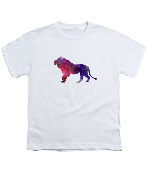Lion 01 In Watercolor Youth T-Shirt by Pablo Romero