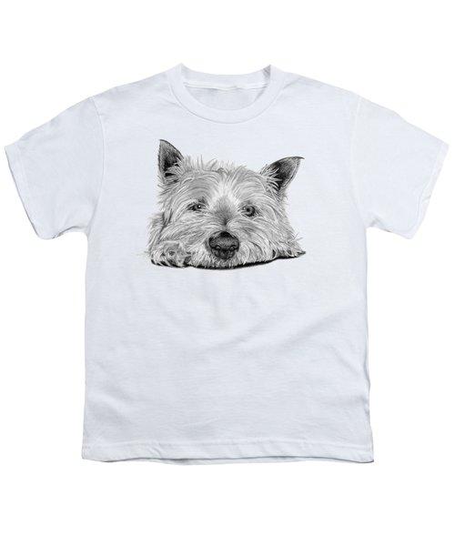 Little Dog Youth T-Shirt by Sarah Batalka