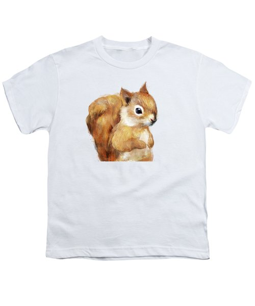 Little Squirrel Youth T-Shirt by Amy Hamilton
