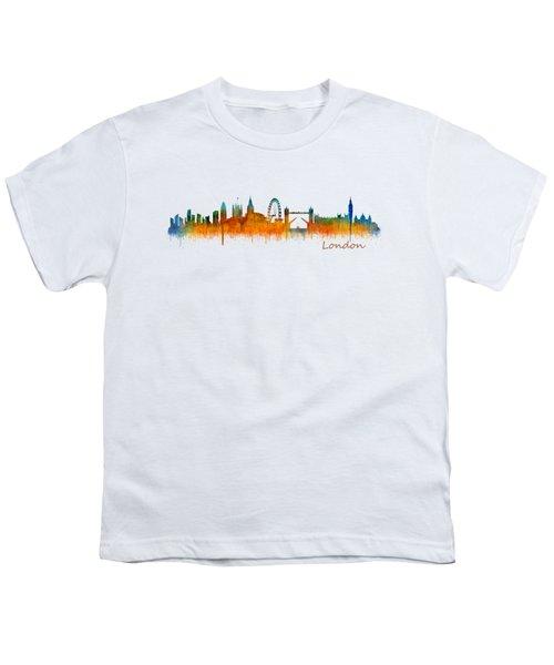 London City Skyline Hq V2 Youth T-Shirt by HQ Photo