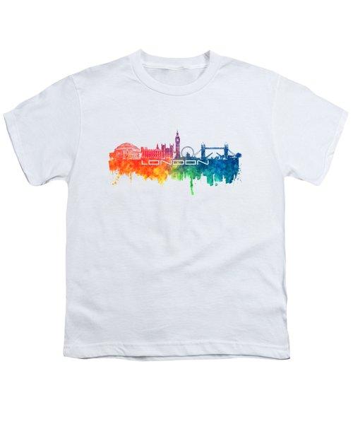 London Skyline City Color Youth T-Shirt by Justyna JBJart