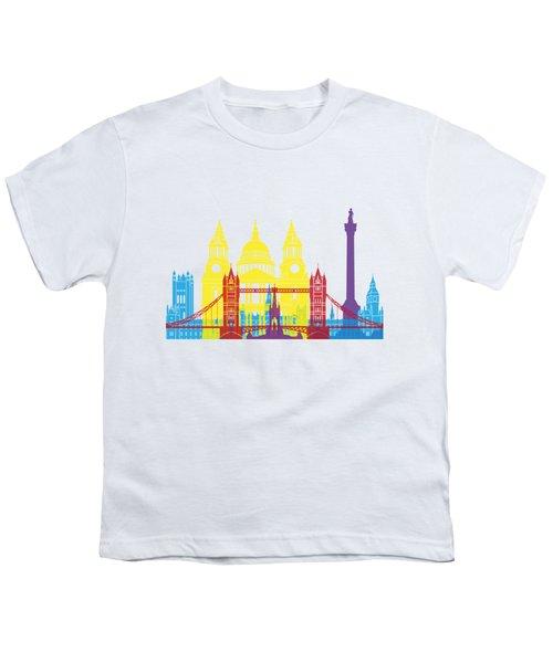 London Skyline Pop Youth T-Shirt by Pablo Romero