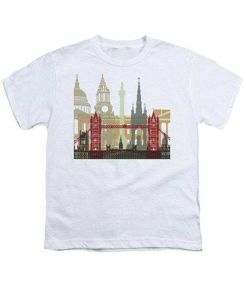 London Skyline Poster Youth T-Shirt by Pablo Romero