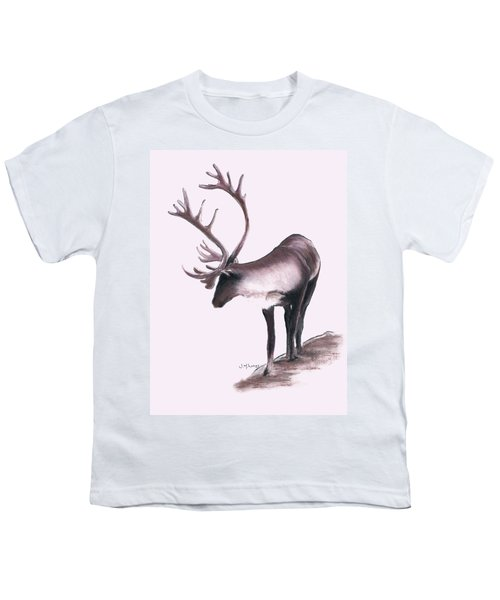 Lone Caribou Youth T-Shirt by Jane M Lucas