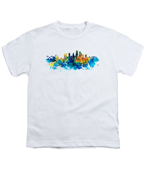 Los Angeles Skyline Youth T-Shirt by Marian Voicu