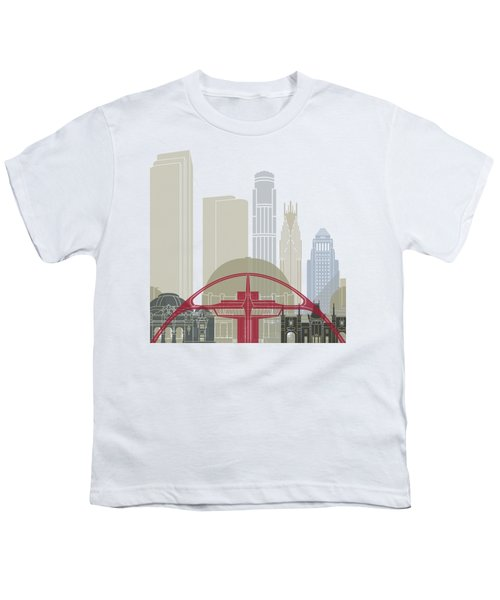 Los Angeles Skyline Poster Youth T-Shirt by Pablo Romero
