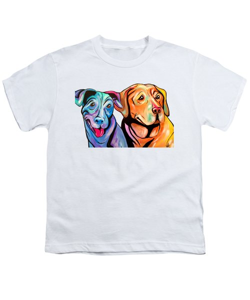 Maggie And Raven Youth T-Shirt by Abbi Kay
