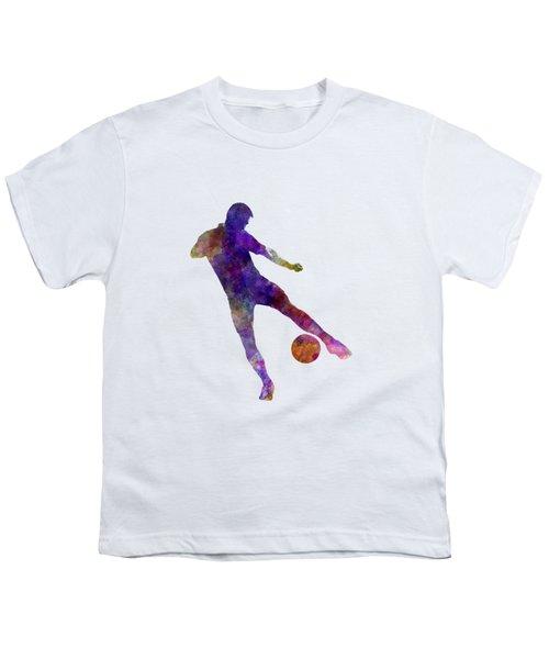 Man Soccer Football Player 02 Youth T-Shirt by Pablo Romero