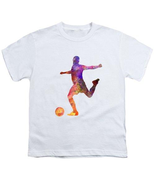 Man Soccer Football Player 03 Youth T-Shirt by Pablo Romero