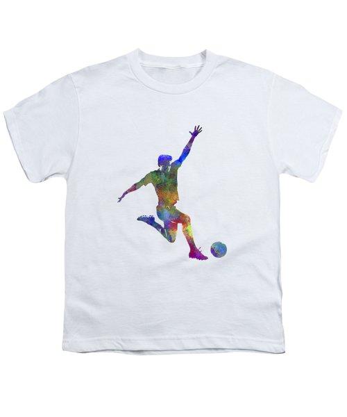 Man Soccer Football Player 05 Youth T-Shirt by Pablo Romero