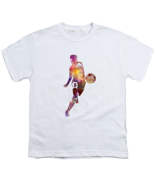 Man Soccer Football Player 10 Youth T-Shirt by Pablo Romero