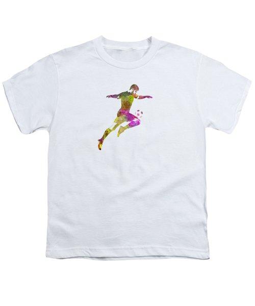 Man Soccer Football Player 12 Youth T-Shirt by Pablo Romero