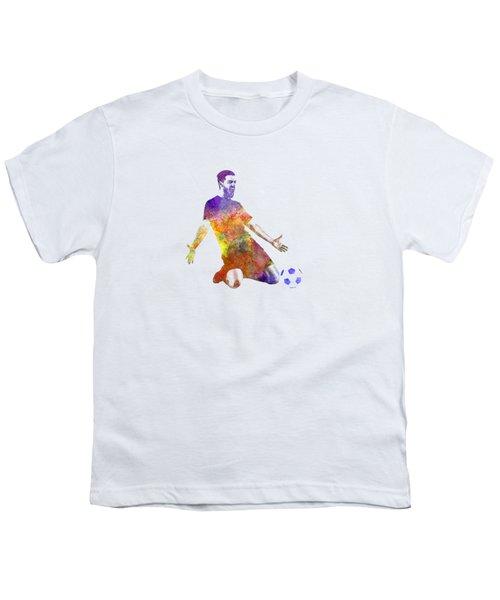 Man Soccer Football Player 13 Youth T-Shirt by Pablo Romero