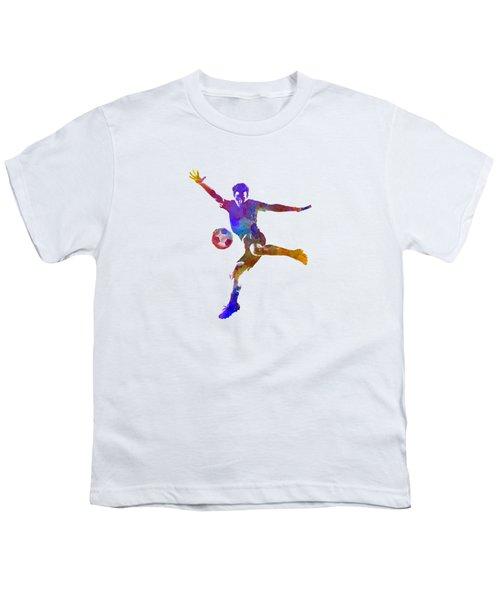 Man Soccer Football Player 14 Youth T-Shirt by Pablo Romero