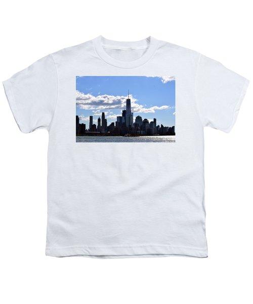Manhattan Skyline No. 17-1 Youth T-Shirt by Sandy Taylor