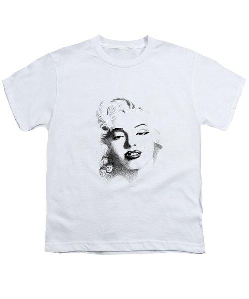 Marilyn  Youth T-Shirt by John Barnard