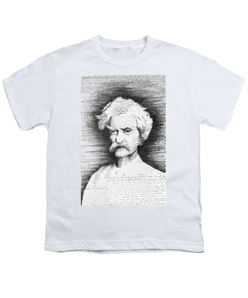 Mark Twain In His Own Words Youth T-Shirt by Phil Vance