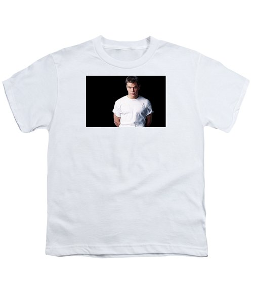 Matt Damon Youth T-Shirt by Iguanna Espinosa