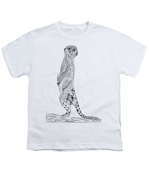 Meerkat Youth T-Shirt by Serkes Panda