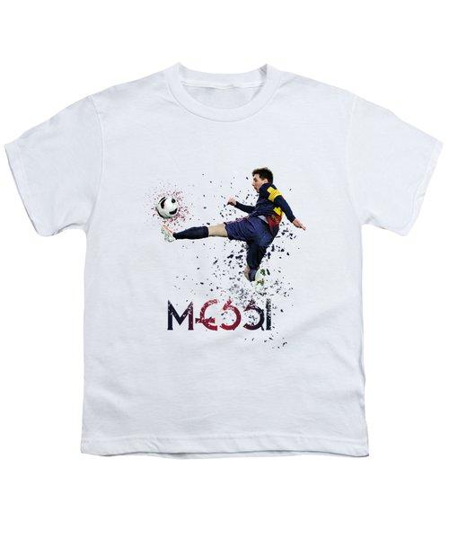 Messi Youth T-Shirt by Armaan Sandhu