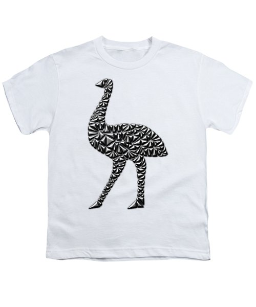 Metallic Emu Youth T-Shirt by Chris Butler