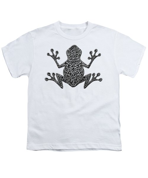 Metallic Frog Youth T-Shirt by Chris Butler