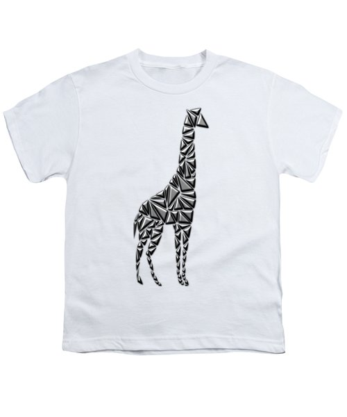 Metallic Giraffe Youth T-Shirt by Chris Butler