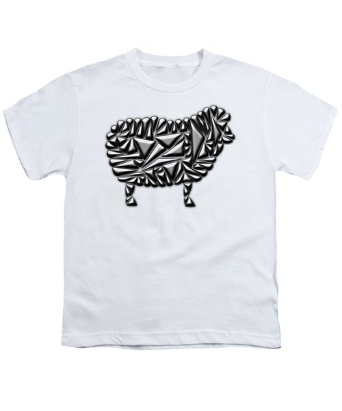 Metallic Sheep Youth T-Shirt by Chris Butler