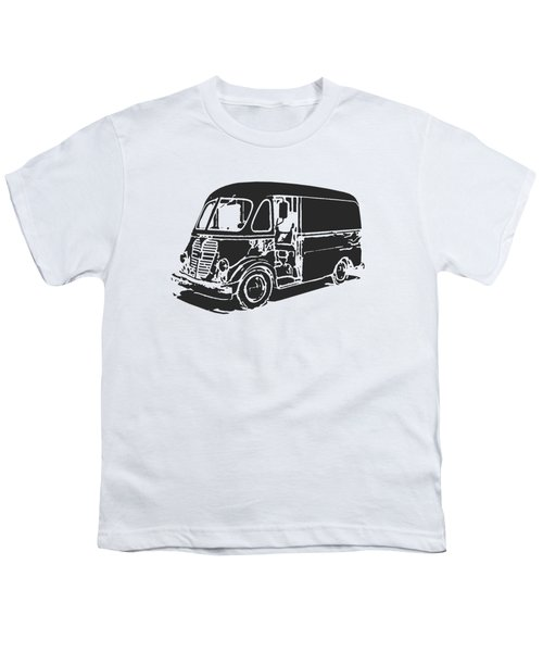 Metro Step Van Tee Youth T-Shirt by Edward Fielding