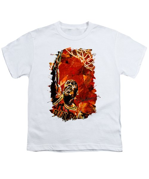 Michael Jordan Youth T-Shirt by Maria Arango
