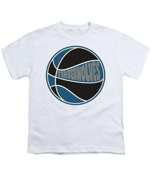 Minnesota Timberwolves Retro Shirt Youth T-Shirt by Joe Hamilton