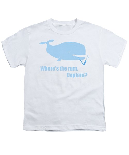 Moby Dick Or The Whale Youth T-Shirt by Frank Tschakert