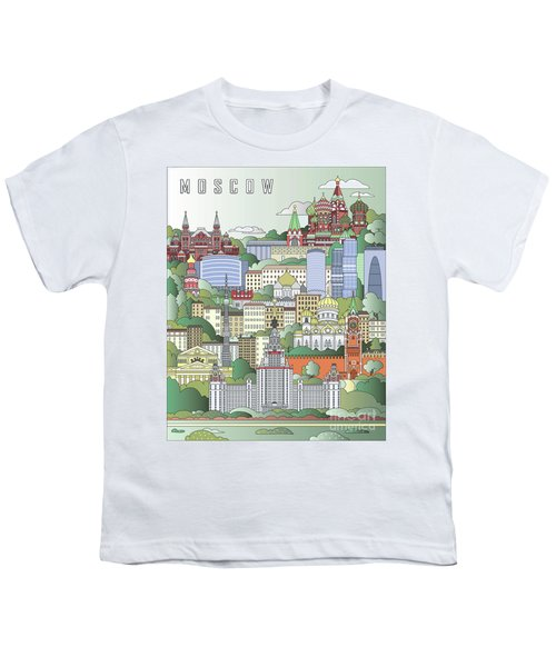 Moscow City Poster Youth T-Shirt by Pablo Romero