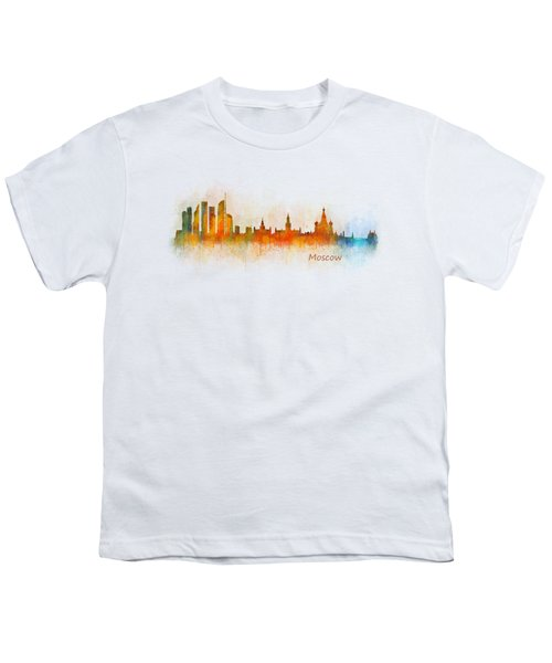 Moscow City Skyline Hq V3 Youth T-Shirt by HQ Photo